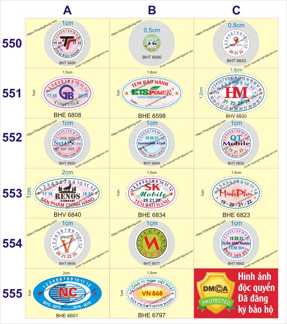 In tem đảm bảo giá chỉ từ 113VND/một cái tem ở Xã An Nhơn, Huyện Đạ Tẻh, Tỉnh LâmĐồng